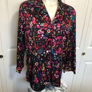 Victoria's Secret satin button front pajama top XL